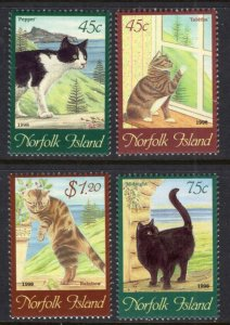 Norfolk Islands 638-641 Cats MNH VF