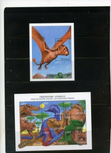 GHANA 1999 PREHISTORIC ANIMALS SHEET OF 9 STAMPS & S/S MNH