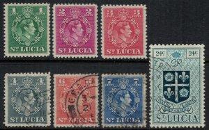 St. Lucia #135-8,40-1,4*/u  CV $10.20