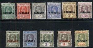 BARBUDA #1-11, Complete set, og, LH, VF, Scott $164.00