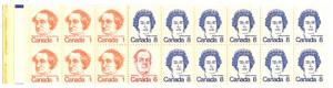 Canada - Pane of 18 Caricature in Complete Booklet #BK75a
