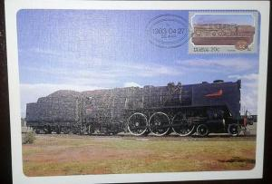 O) 1983 SOUTH AFRICA, STEAM LOCOMOTIVES- TRAIN CLASS 16E SCT 615, MAXIMUM CARD,