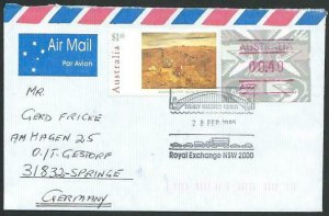 AUSTRALIA 1995 cover to Germany - nice franking - Sydney Pictorial pmk.....14705