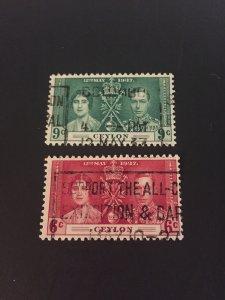 *Ceylon #275-276u