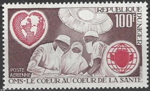 Niger  C182  MNH  WHO  Heart Health 1972