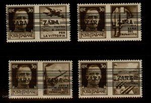 Germany WWII Italy Zara Mi36I-36IV MNH Besetzung Croatia Expert Photo Cert 95752