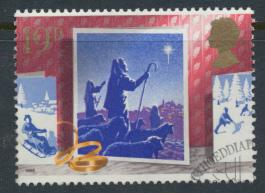 Great Britain  SG 1416 SC# 1235 Used / FU with First Day Cancel - Christmas 1988