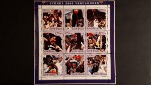 Sport - Olympic Sydney - Winners 4 - Guinea Bissau 2001. ** MNH Souvenir sheet