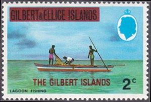 Gilbert Islands # 254 mnh ~ 2¢ Lagoon Fishing, overprint