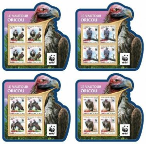 Z08 DJB190519c2 DJIBOUTI 2019 WWF Vulture MNH ** Postfrisch