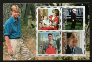 GIBRALTAR SGMS936 2000 18th BIRTHDAY PRINCE WILLIAM MNH