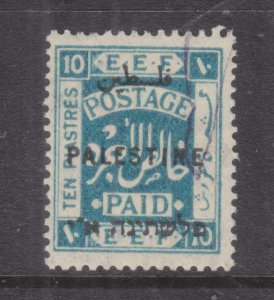 PALESTINE, 1922 10pi. Light Blue, lhm.