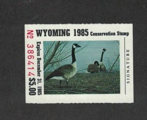 WY2 1985 1st  WYOMING  State Duck Stamp (KUSSEROW) MINT OGNH EBAY LOW=$25-OFFER?