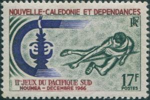 New Caledonia 1966 SG419 17f High Jumping MLH