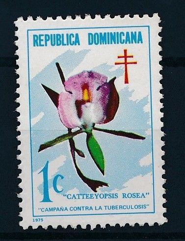 [62598] Dominican Republic 1975 Flora - Campaign against Tuberculosis  MNH