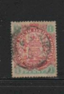 RHODESIA #27 1896 1p COAT OF ARMS F-VF USED