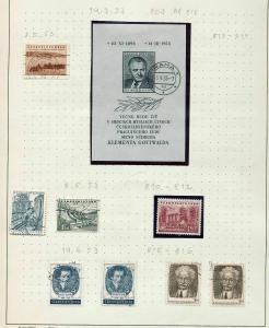 Czechoslovakia 1953/54 M&U Blocks Sheets (Appx 100+Items) (Fed DD542