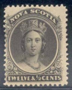 Nova Scotia ~ #12 ~ 12.5c Queen Victoria ~ MNH