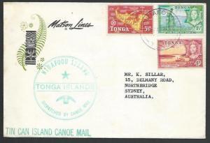 TONGA 1966 Tin Can Mail cover..............................................83594