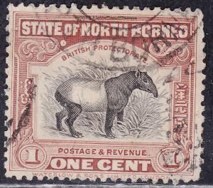 North Borneo 136 Hinged 1909 Malayan Tapir