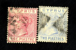 Cyprus #12,13 Used FVF Cat$75