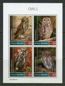 MALDIVES 2019  OWLS  SHEET   MINT NH