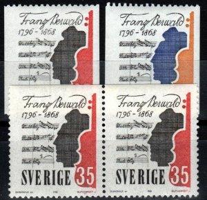 Sweden #773-5 MNH CV $3.80 (X1352)