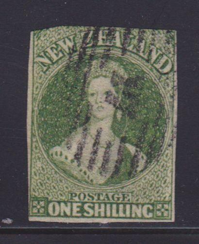 New Zealand Scott # 15 Fine used nice color ! scarce ! cv $ 390 ! see pic !