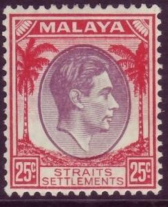 MALAYSIA - Straits Settlements SG286, 25c dull purple & scarlet M MINT. Cat £42.