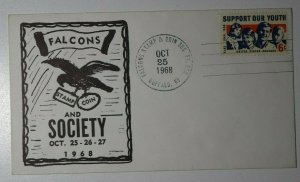 Falcons Stamp & Coin Society Buffalo NY 1968 Philatelic Expo Cachet Cover