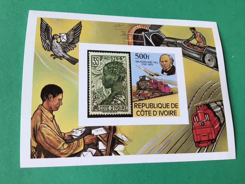 Republic Cote D'Ivoire Sir Rowland Hill  mint never hinged  stamps sheet  55507