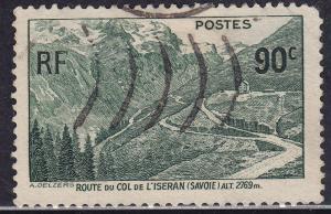 France 334 USED 1937 Mountain Road at Iseran 90c