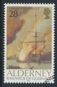 Alderney  SG A53  SC# 66  Ships Battle La Hogue Used First Day Cancel - as pe...