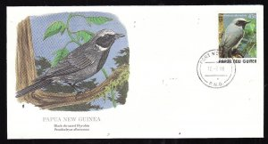 Flora & Fauna of the World #203b-Papua New Guinea-Birds-Blue-capped Ifrit-FDC wi