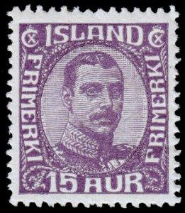 Iceland Scott 117 (1920) Mint H VF, CV $40.00 C