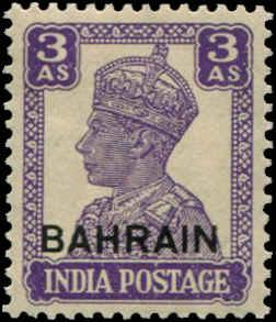 Bahrain SC# 46 SG# 45 George VI o/p on India 3as MH