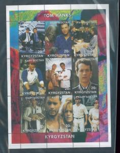 TOM HANKS 2001 Souvenir Sheet VF, MNH Kyrgyzstan - E40
