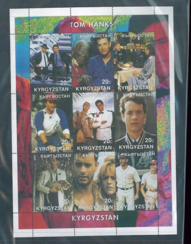 TOM HANKS 2001 Souvenir Sheet VF, MNH Kyrgyzstan - E40