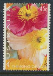 Australia SG 1447 Used - Greetings Poppies