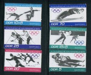 Germany DDR #1370-3 B166-7 MNH