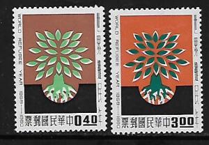 CHINA 1252-1253 MNH WORLD REFUGEE YEAR