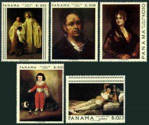 Panama 481C-481G Air Post,MNH.Mi 1022-1026. Paintings by Francisco Goya,1967.