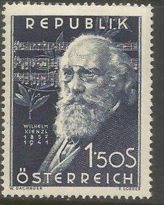 AUSTRIA  578  HINGED,  WILHELM KIENZL, COMPOSER