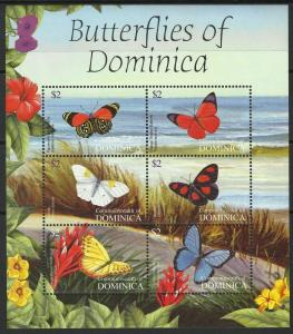 Dominica 2004 butterflies insects fauna klb MNH