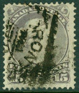 EDW1949SELL : CANADA 1868 Sc #29 Grey Violet. Used. Light corner crease. Cat $65