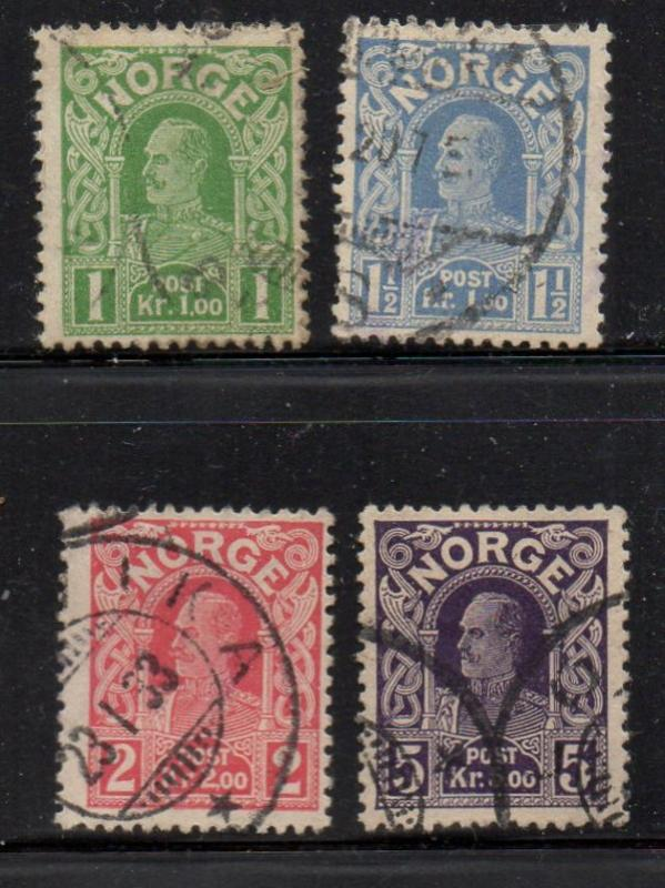 Norway Sc 70-3 1922-1918 Haakon VII stamp set used