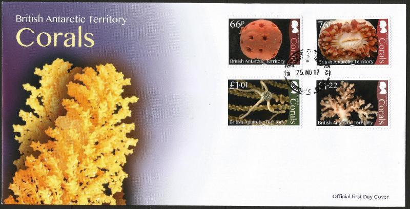 British Antarctic Territory BAT 2017 Corals FDC