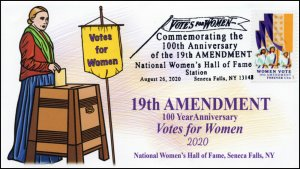 20-146, 2020, SC 5523, Women Vote, Pictorial Postmark, Event Cover, Seneca Falls