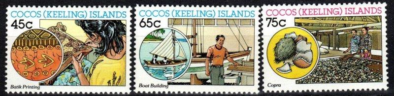 Cocos Islands #166-8 MNH  CV $4.35 (P393)