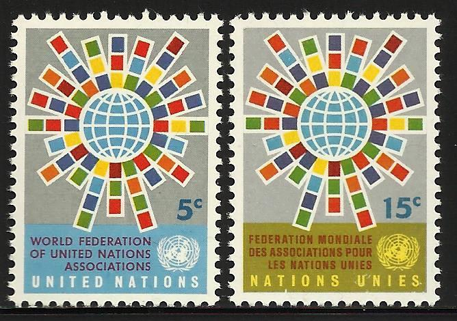 United Nations, New York 1966 Scott# 154-155 MNH